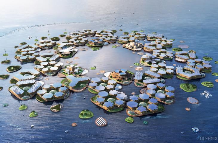Oceanix, la città galleggiante per contrastare i cambiamenti climatici - In a Bottle
