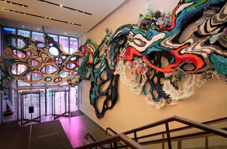 L'arte tridimensionale di  Crystal Wagner protagonista a Time Square