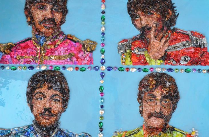 Lady Be, l'artista che crea ritratti con la plastica riciclata – In a Bottle