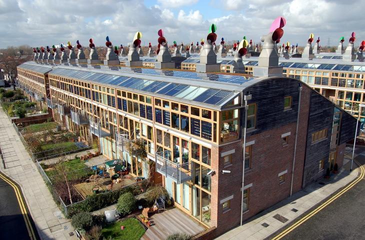 BedZed, l'eco-sobborgo nei pressi di Londra