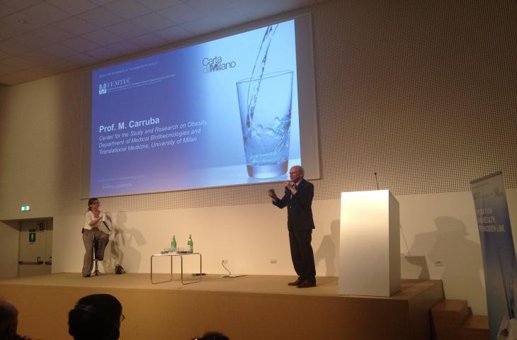 Michele Carruba spiega il rapporto tra idratazione e obesità