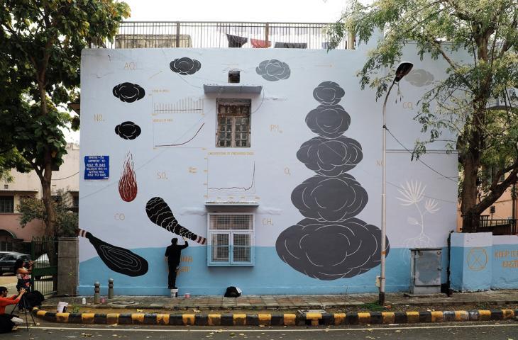 """""""Climate 05"""" il murales a New Dehli contro i cambiamenti climatici - In a Bottle"""