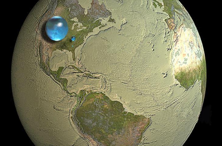 Come sarebbe la Terra senza acqua?_alt tag