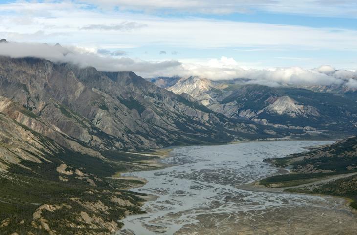 In Canada i cambiamenti climatici prosciugano il fiume Slims  alt_tag