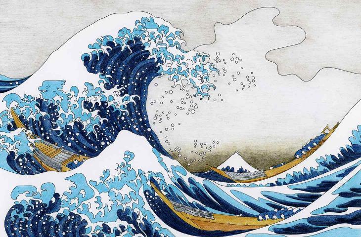 """L'acqua nel mondo dell'arte: """"La Grande Onda di Kanagawa"""" compie 190 anni - In a Bottle"""