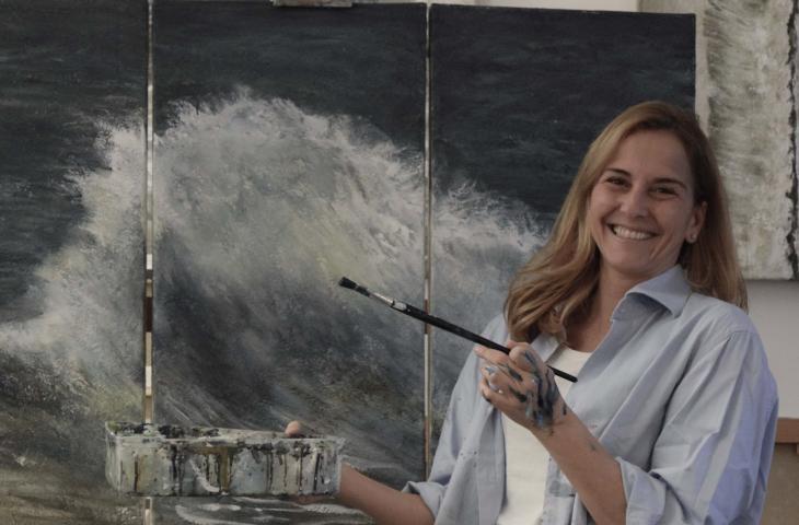 Susanna Montagna, la pittrice di onde parla delle sue opere – In a Bottle