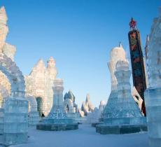 Le sculture di ghiaccio, attrazione turistica della città cinese di Harbin - In a Bottle