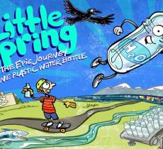 Little Spring, la vita di una bottiglia di plastica in un libro – In a Bottle