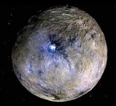 Scoperta acqua ghiacciata sul pianeta nano Cerere