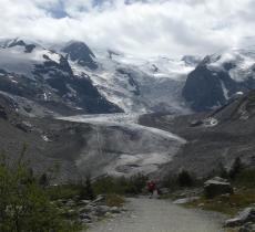 Si ritira il ghiacciaio del Morteratsch nel gruppo del Bernina