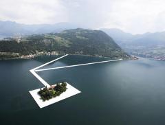Lago d'Iseo: si inaugura l'opera d'arte galleggiante di Christo Yavchev