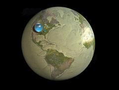 Ecco come sarebbe la Terra senza acqua