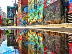 Murales Hula Ritratti Femminili che Emergono dall'Acqua – In a Bottle