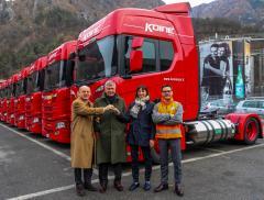 Il navettaggio dell'acqua minerale S.Pellegrino viaggia su mezzi LNG Scania riducendo le emissioni di anidride carbonica - In a Bottle