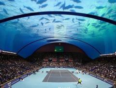 Il futuro del tennis? Sott'acqua, in uno stadio sottomarino a Dubai