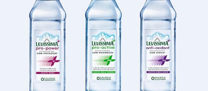 Arriva Levissima +: l'acqua con più sali minerali