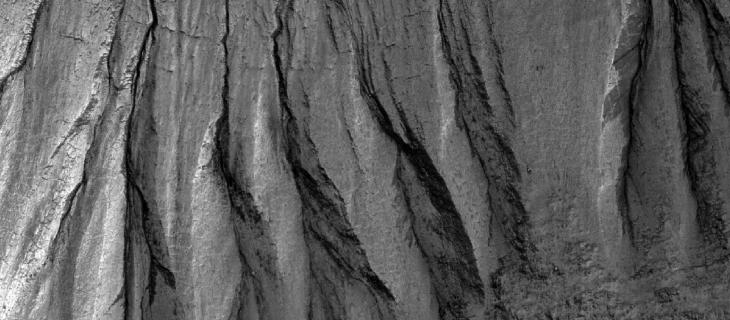 I calanchi su Marte formati dal ghiaccio secco?_alt tag