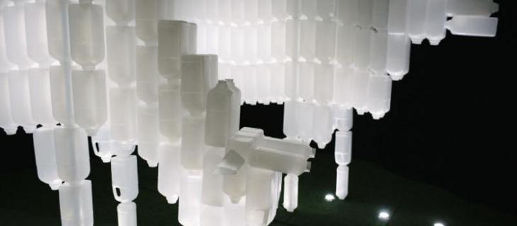 Light Marina Bay: l'arte con le bottiglie di plastica