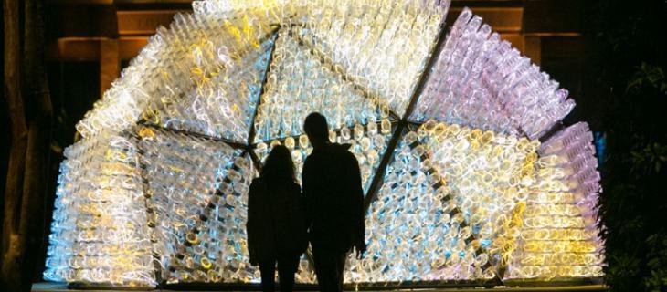 Le opere ready-made di Murno sono visibili al Giardino Botanico di Atlanta