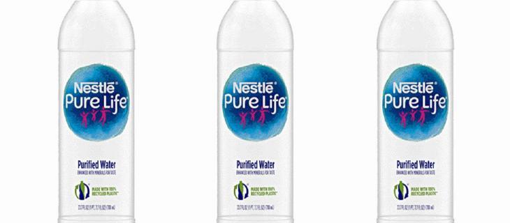 Nestlé Pure Life lancia la bottiglia di plastica riciclata al 100%