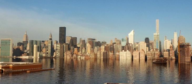 New York sommersa d'acqua: la mostra provocazione di due film maker