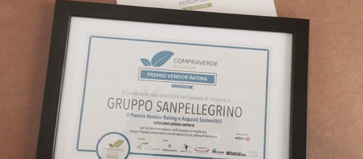 Sanpellegrino vince il Premio Vendor Rating 2017