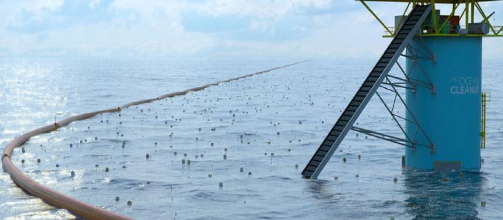 Una barriera di 100 km per contenere la plastica nell'oceano