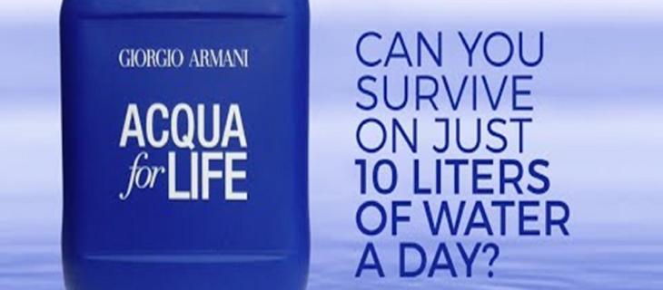 Vivere con 10 litri di acqua al giorno? Green Cross Italia lancia la sfida